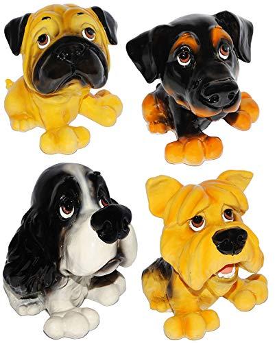 alles-meine.de GmbH 1 Stück - großes Sparschwein - Hund - aus Kunstharz - Mops / Cocker Spaniel / Deutsch Langhaar / Terrier - stabile Sparbüchse - Hundewelpe - Comic Hunde / Spa..