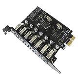 Tarjeta de expansión PCI-E a USB 3.0 de 7 puertos (USB-A) USB 3.0 PCIE, tarjeta adicional...