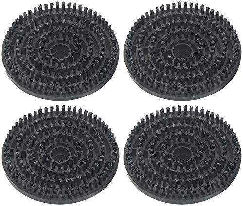 Sichler Haushaltsgeräte Zubehör zu Dampf-Besen: 4er-Set Bürsten für Dampf-Fußboden-Poliermaschine FPW-800, Ø 14 cm (Boden-Poliermaschine für Haushalt)