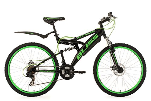 KS Cycling Mountainbike MTB Fully 26'' Bliss schwarz-grün RH 47 cm