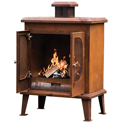 Go Garden Wakehurst Premium Rust Finish Fireplace