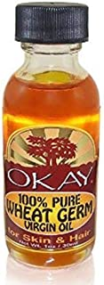 OKAY | 100% Pure Wheat Germ Virgin Oil | For Hair and Skin | High in Vitamins A, B, D and E | Nourishing | Free of Silicon...