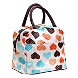 DWE Lunch Bag, Lovely Oxford Waterproof Canvas Lunch Box for Women Kids and Adults (7A)