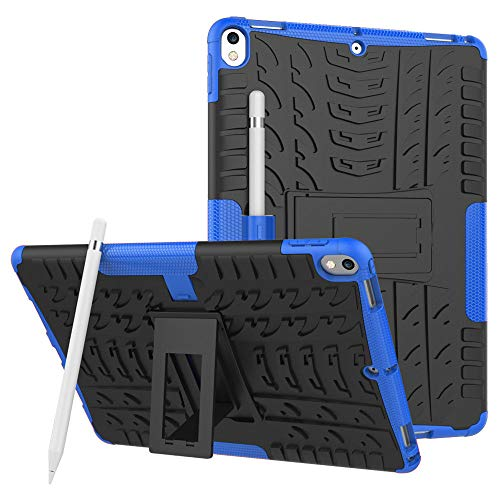 Case for iPad Air 10.5 (2019) - Heavy Duty Hybrid Tough Rugged Dual Layer Armor - Kickstand Cover - Blue