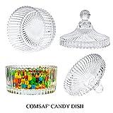 ComSaf Bonboniere mit Deckel Ф10cm 2er-Set, Zuckerdose aus Glas Klein, Lebensmittelechter Glasbehälter für Snacks - 4