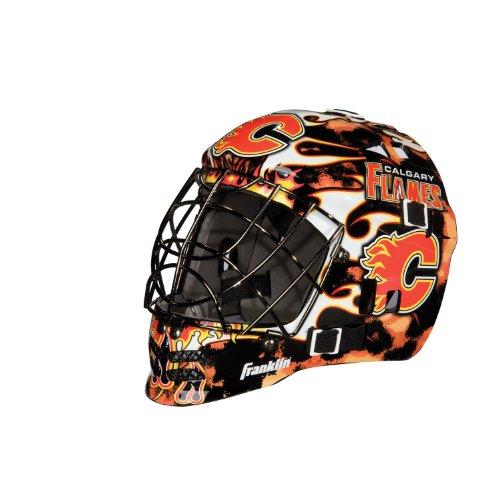 Franklin Sports Eishockey-Sammelartikel Torwart-Helm Mini, Design: Logo Einer NHL-Mannschaft, Unisex, 7784F08, rot, Einheitsgröße