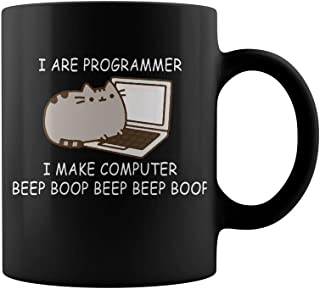 I are programmer I make computer beep boop beep beep boop coder Mug Coffee Mug Gift Coffee Mug 11OZ Coffee Mug