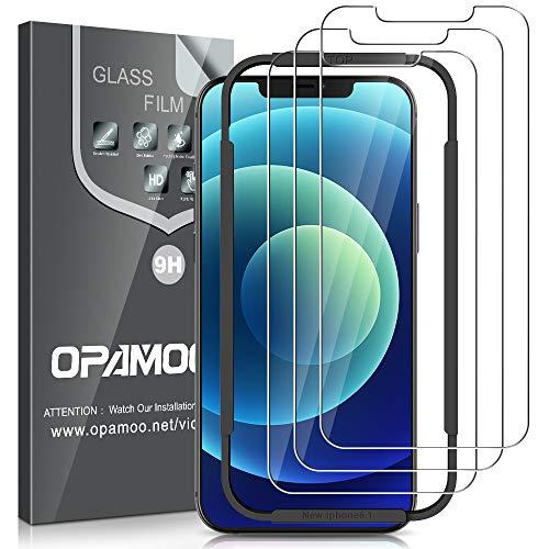 opamoo [3 Stück] Panzerglas Kompatibel mit iPhone 12 / iPhone 12 Pro, Schutzfolie für iPhone 12 mit Anti-Bläschen Anti-Kratzen 9H Festigkeit HD Bildschirmschutzfolie für iPhone 12 / iPhone 12 Pro -6,1