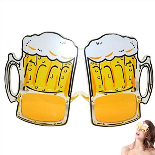 Tinksky Fantastische Bier-Becher-Brillen-Karnevals-Party-Versorgungsmaterialien für Kleid-Zusatz