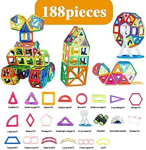 Hzl Magnetische Fliesen Bausteine P gogisches Spielzeug Set für Kinder 8 Anzüge,8