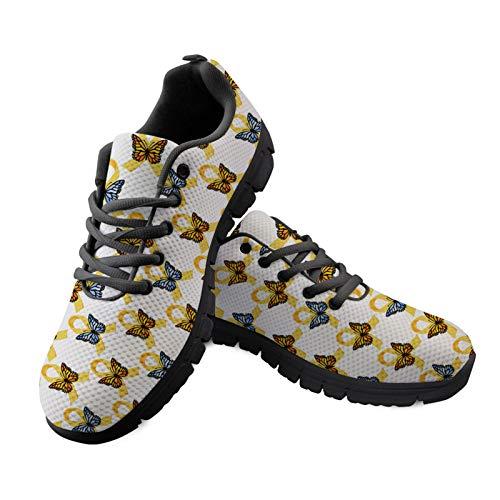 HUGS IDEA Mocasines casuales para caminar, impresión colorida, moda para correr, correr, entrenamiento, deporte, tenis atléticos para correr, color, talla 46 EU