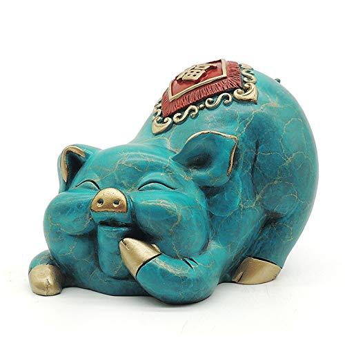 Decoración de Escritorio Zodiac Feng Shui Decoración Adornos, Cerdo de cobre puro Crafts Crafts Office de la oficina Decoraciones de escritorio Regalos de negocios decoración Escritorio Escultura Manu
