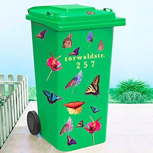 TRI Mülltonnen-Sticker, Abfalltonnensticker Mülltonnenaufkleber Frühjahrs Aufkleber Outdoor-Aufkleber Buchstaben und Zahlen