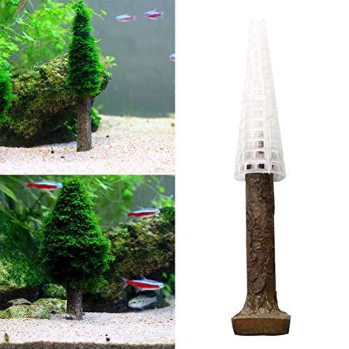 POPETPOP Aquarium-Weihnachtsbaum, 2er-Pack, schöne Dekoration für Aquarien, Moosbaum, Wasserpflanzen, Moos und andere Pflanzen (nicht im Lieferumfang enthalten)