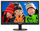 "PHILIPS 193V5LHSB2/94 18.5"" Smart Control Monitor with TFT/LCD Display VGA/HDMI Port, 5 ms"