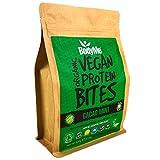 BodyMe Orgánica Proteínas Veganas Mordeduras De Bocados | Crudo Cacao Menta | 500g | 100 Mordeduras | Con 3 Proteínas Vegetales