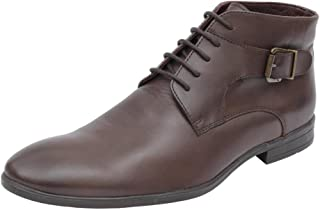 Salt N Pepper Brown Real Leather Men's Boots