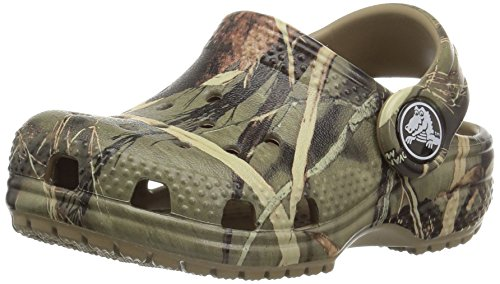 Crocs Kids' Classic Realtree Clog | Slip On Water Shoe for Toddlers, Boys, Girls, Khaki, 7 M US Toddler