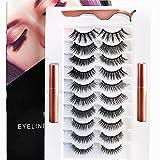 Magnetic Lashes, Magnetic Eyelashes With Eyeliner, 3D Magnetic Eyelashes And Eyeliner, Magnetic False Lashes with Magnetic Eyeliner Kit
