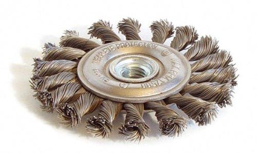 Techman - Brosse métallique plate mèches torsadées 125 mm