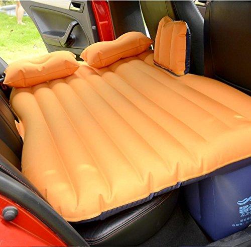 YL Auto Aufblasbare Bett Auto Erwachsene Matratze Hintere Reise Bett Auto in Den Rücken Sitz SUV Schlaf-pad Auto Schock Bett Luftkissen,Orange