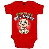 Body bebé nacido para ser del Rayo para aficionado al fútbol de Vallecas - Rojo, Talla única 12 meses