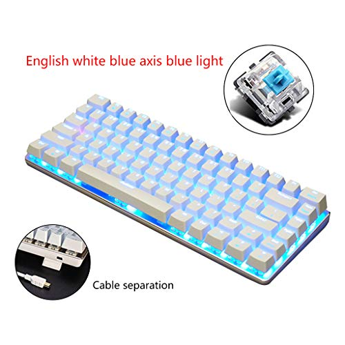 Fugift Ajazz AK33 82 Keys Mechanische Tastatur Russisch/Englisch Layout-Gaming Keyboard RGB-Hintergrundbeleuchtung Schalter Wired Tastatur