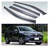 QUXING Deflectores de Viento 4 Uds Visera Exterior de plástico, persianas de ventilación, Deflector de protección contra la Lluvia y el Sol para Toyota Rav4 XA50 2019 2020 2021 Derivabrisas
