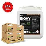 BIOHY Universal Entkalker (24 x Bote de 20 litros) | Concentrado para 20 procesos de descalcificación/Botella | Compatible con Todas Las cafeteras automáticas, como DELONGHI, Philips