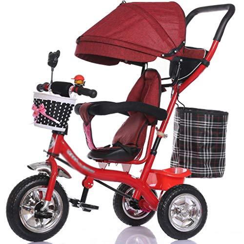 Kombikinderwagen Multifunktionskind Dreirad Trolley 1-3 - 5 Jahre altes Fahrrad Baby Fahrrad Baby Auto Kinderwagen (Color : E)