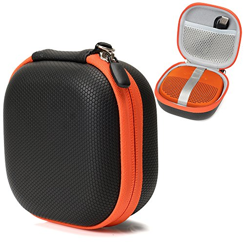 Bluetooth Speaker Case for Bose SoundLink Micro Portable Outdoor Speaker, by CaseSack, Tailor Made semi- Hard case with Best Matching Shape and Color, mesh Charge Cord Pocket, Detachable Wrist Handle