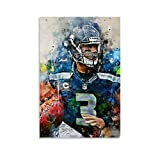 QWSDE NFL Seattle Seahawks Russell Wilson Sports Poster 3