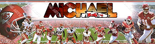 Personalized/Customized Kansas City Chiefs Name Poster Wall Decor Door Birthday Art Banner