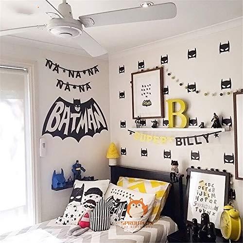 Batman Muursticker schattige superhelden Batman kinderkamer masker sticker kinderen slaapkamer decoratie DIY Art 133.6x59.4 cm