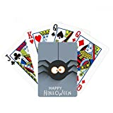 Halloween insecto araña telaraña ilustración poker jugar magia tarjeta divertido juego de mesa