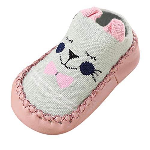 Tonsi Chaussures premiers pas de Dessin animé Chaussettes Antidérapantes Bébé Chaudes