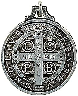 St Benedict Medal Pocket Keepsake with Holy Prayer Card in a Pouch