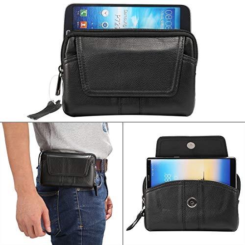 E-R1 6.0 inch en onder Universal echt lederen heren Horizontaal Style Case heuptas met riem Hole, for de iPhone, Samsung, Sony, Huawei, Meizu, Lenovo, ASUS, OnePlus, Xiaomi, Cubot, Ulefone, Letv, Doog
