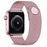 jwacct Bracelet réglable en Maille d'acier Inoxydable pour Apple Watch Series 4 3 2...