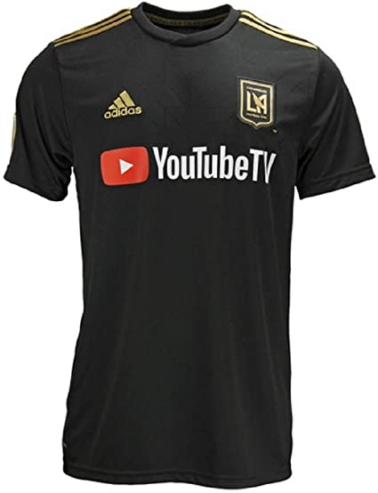 Amazon Com Adidas Los Angeles Fc Adult Home Replica Soccer Jersey 7417alfbaznlgf Clothing
