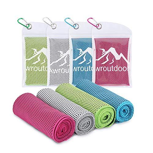 Awroutdoor Cooling Towel, Kühlendes Handtuch Set Sofortige Relief Eiskalt Kühlen Handtuch Atmungsaktives Mesh Schweißsaugfähig für Yoga Fitness, Camping, Reisen, Freizeit & mehr