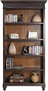 Bowery Hill 5 Shelf Bookcase in Distressed Black