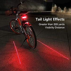 Ampulla Recargable de luz Trasera Bicicleta LED - Mando a Distancia, Luces de Giro,Alerta de la Via del Carril, Resistente al Agua, fácil instalación para Luz de Advertencia de Seguridad del Ciclismo