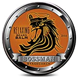 Balm Bossman Relaxing Beard Balm - Tame - Thicken - Protect your beard. Made in USA (Stagecoach Scent)