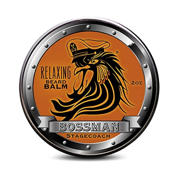 Bossman Relaxing Beard Balm - Tamer, Thickener, Relaxer and Softener Cream and Beard Care Product - Made in USA… 1