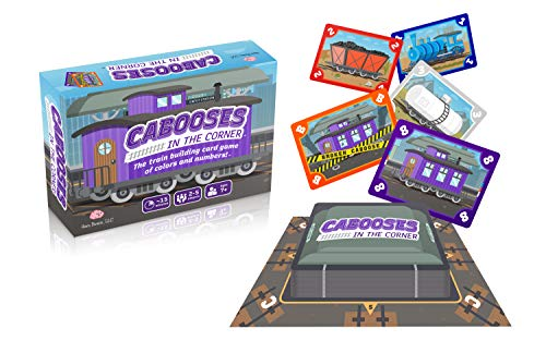 Cabooses in the corner  The Train Building Card Game of Colors and Numbers   Great Gift   2  5 Players Ages 7