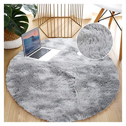 Alfombra redonda para la sala de estar Alfombra Thick Bed Room Room Alfombras antideslizante piso suave alfombra corbata tinteing estera alfombra grande alfombra para sala de estar Accesorios de dormi