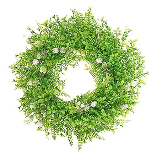 YWYU 20'Faux Hojas de Guirnalda Guirnalda de vegetación Artificial para la Puerta de la Puerta Delantera Ventana de Colgante de la Ventana y la decoración de la Fiesta de la Boda del Verano