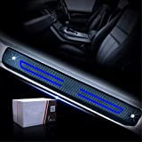 Cobear Einstiegsleiste Schutz Aufkleber Reflektierende Lackschutzfolie für i10 i20 iX20 i30 i40 i80 Tucson Genesis Santa FE Einstiegsleisten Blau 4 Stück