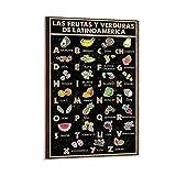 HaiDeNa Amerikanisches Spanisches Alphabet, veganes Poster,